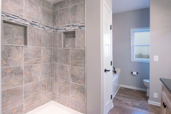 stone wall bathroom shower