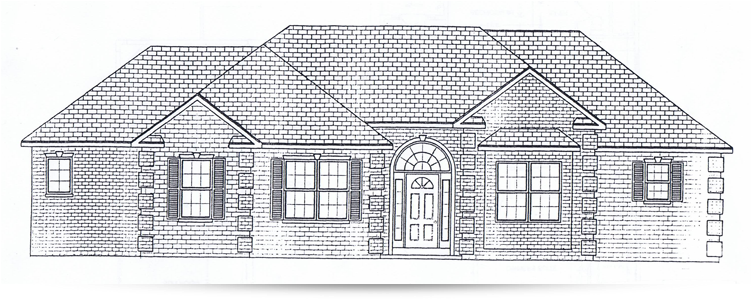 The arrowroot ranch style home designed by kilbarger for New construction ranch style homes in illinois