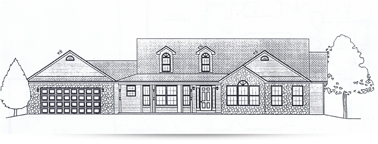 The dawnlight ranch style home designed by kilbarger for New construction ranch style homes in illinois