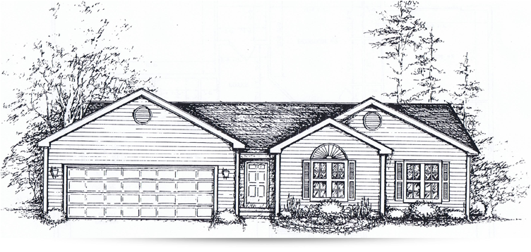 The crosswind ranch style home designed by kilbarger for Ranch home builders ohio