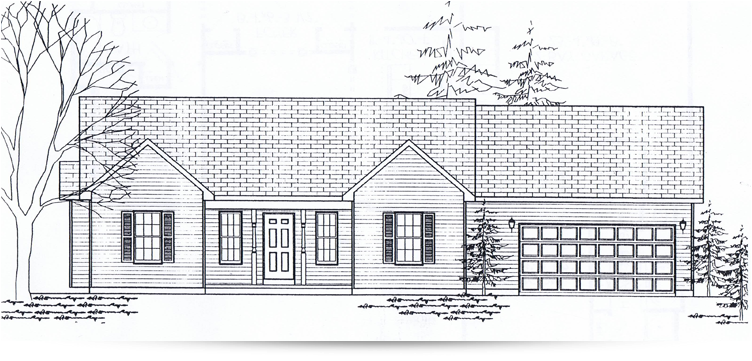 The deephaven ranch style home designed by kilbarger for Ranch home builders ohio