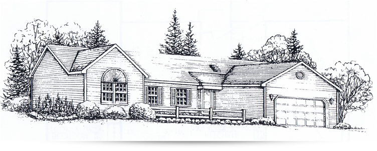 The fernridge ranch style home designed by kilbarger for New construction ranch style homes in illinois