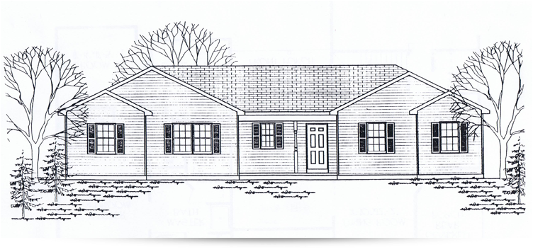 The idlebrook ranch style home designed by kilbarger for Ranch home builders ohio