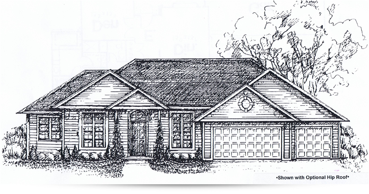 The ivyhill ranch style home designed by kilbarger for Ranch home builders ohio