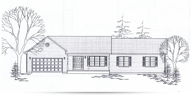 The whitewillow ranch style home designed by kilbarger for Ranch home builders ohio